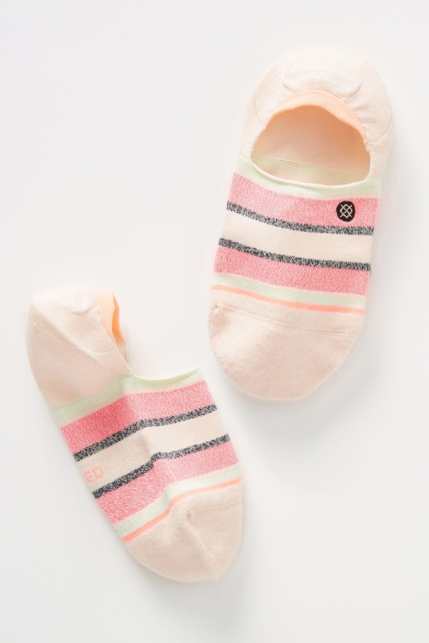 928081636 Stance Watermelon Stripe No-Show Socks | Anthropologie
