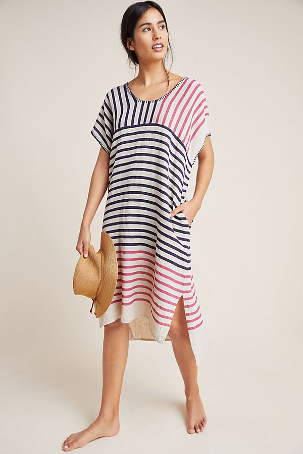 Slide View: 1: Sundry Striped Caftan