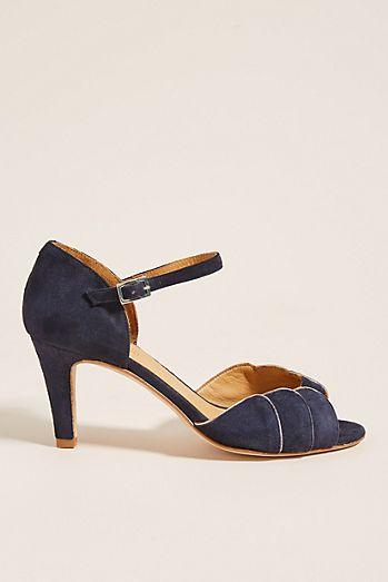 size 40 3de05 468f9 Emma Go Navy Ankle Strap Heels