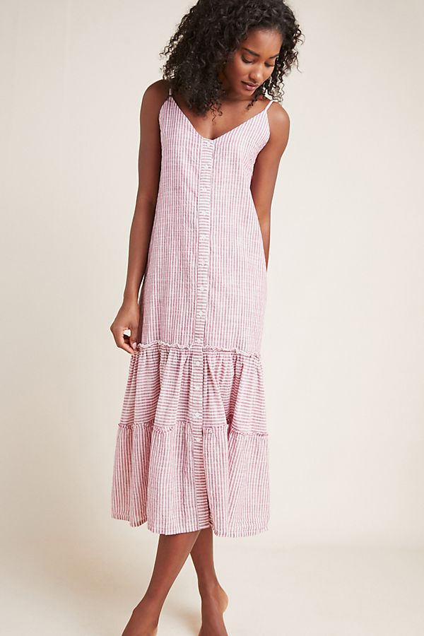 Slide View: 1: Sundry Ruffled Midi Dress