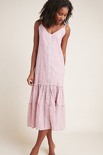 c639b20c797 Sundry Ruffled Midi Dress