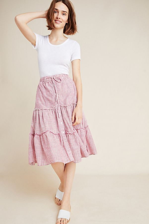 Slide View: 1: Sundry Tiered Mini Skirt
