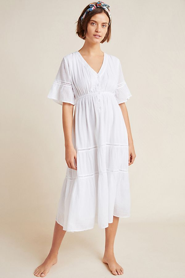 Slide View: 1: Sundry Ruffled Peasant Dress
