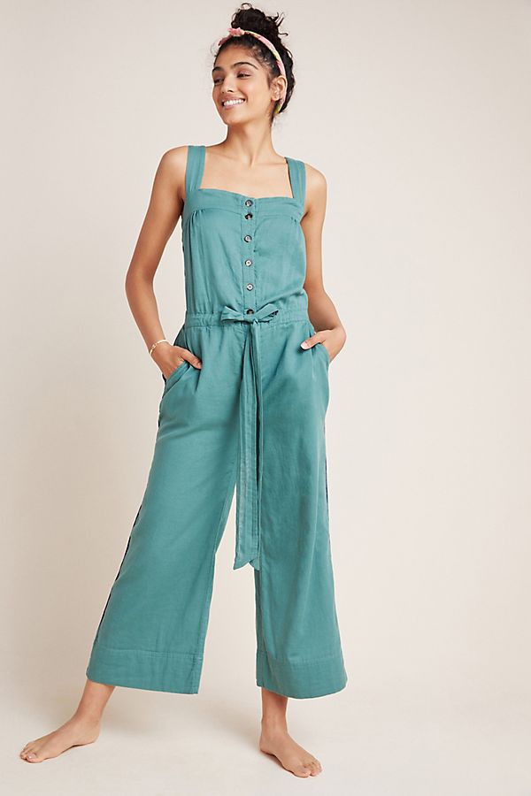 Slide View: 1: Sundry Wide-Leg Jumpsuit