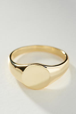 Shashi 18 K Gold Signet Ring by Shashi