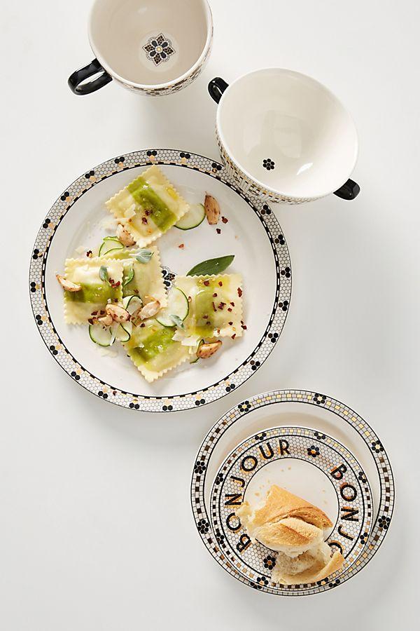 Slide View: 2: Bistro Tile Dinner Plates, Set of 4