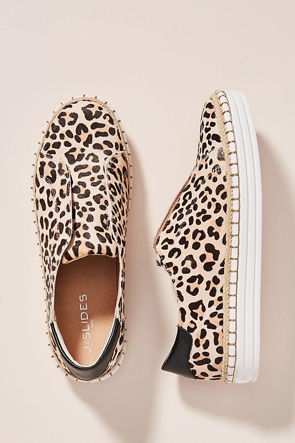 Slide View: 1: J/Slides Leopard-Printed Slip-On Sneakers