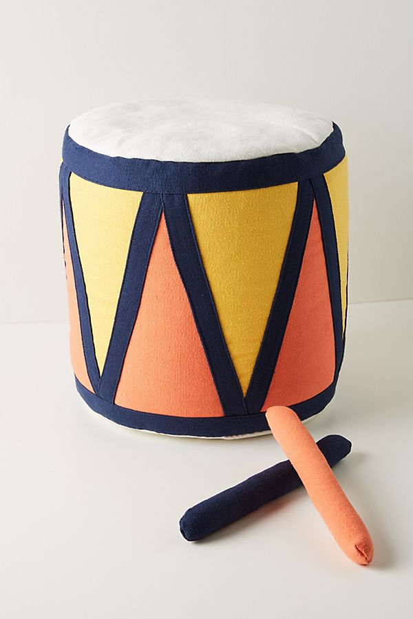 Slide View: 1: Darla Drum Pouf