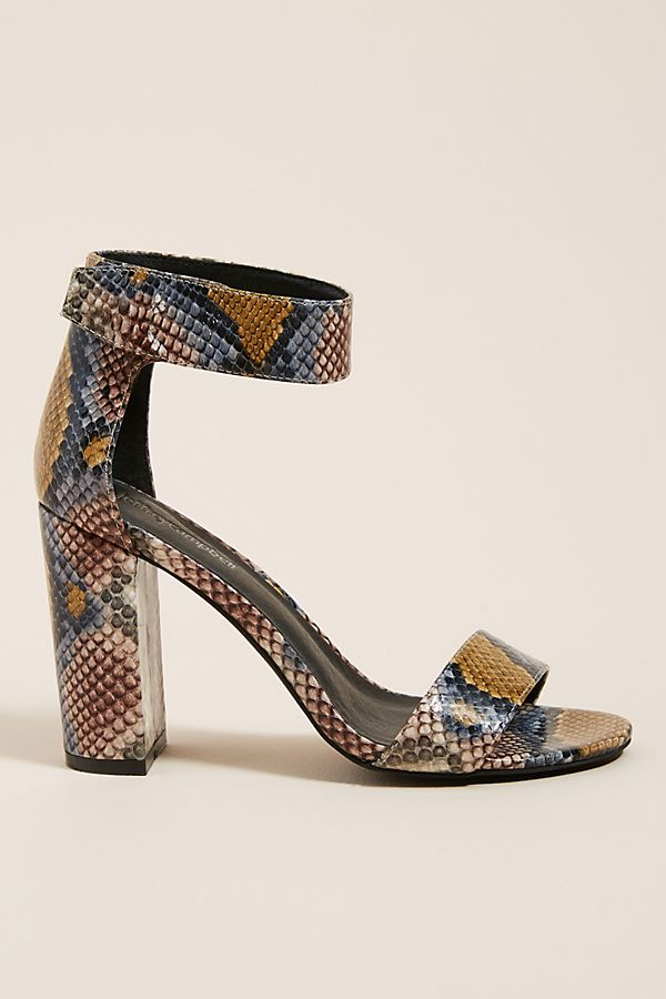 new product f5d5a f0c70 Jeffrey Campbell Snake-Printed Purdy Heeled Sandals