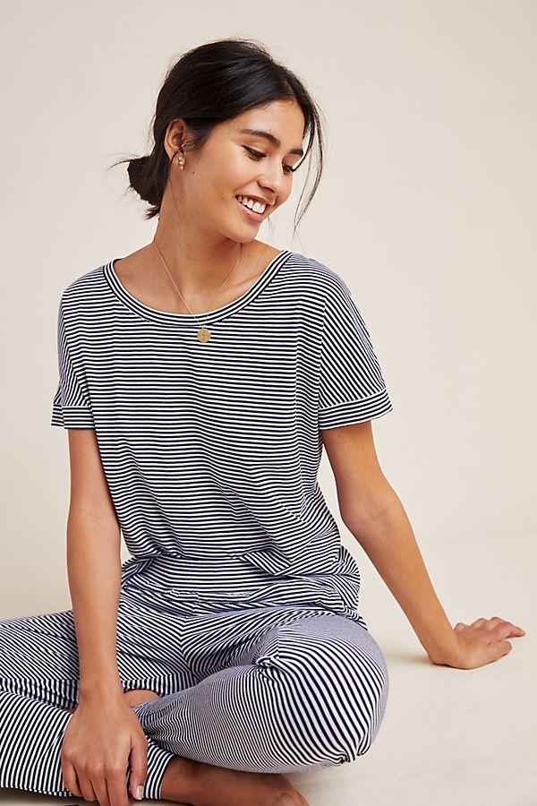 Slide View: 1: Eberjey Striped Sleep Shirt