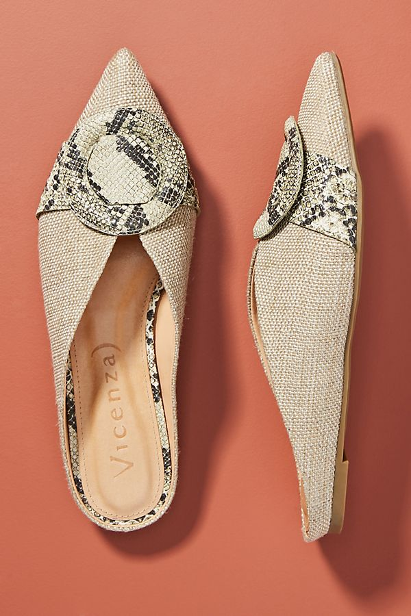 Vicenza Snake Espadrille Flats by Vicenza