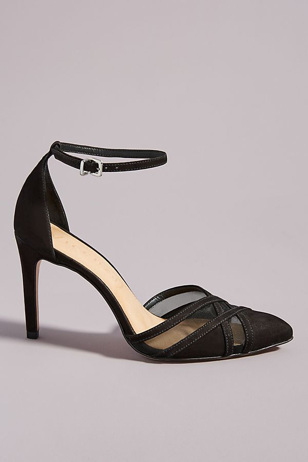 Vicenza Suede Mesh Heels by Vicenza