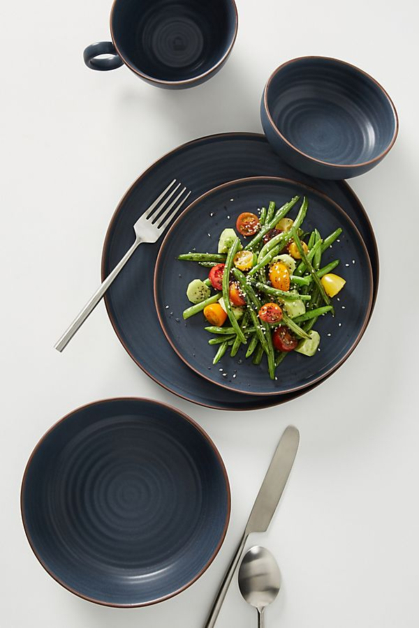 Slide View: 1: Ilana Matte Dinner Plates, Set of 4