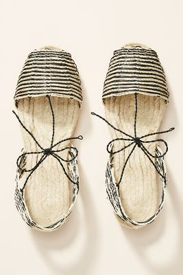 Ball Pages Striped Espadrille Sandals by Ball Pages