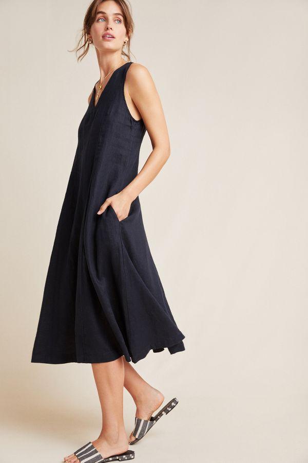 Slide View: 1: Stateside Linen Tank Dress