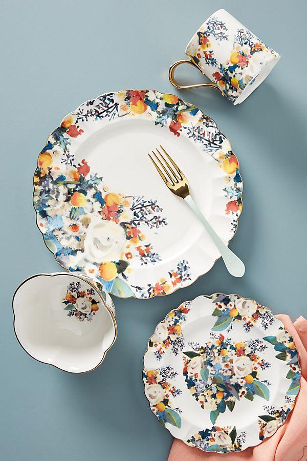 Slide View: 2: Botanica Dinner Plates, Set of 4