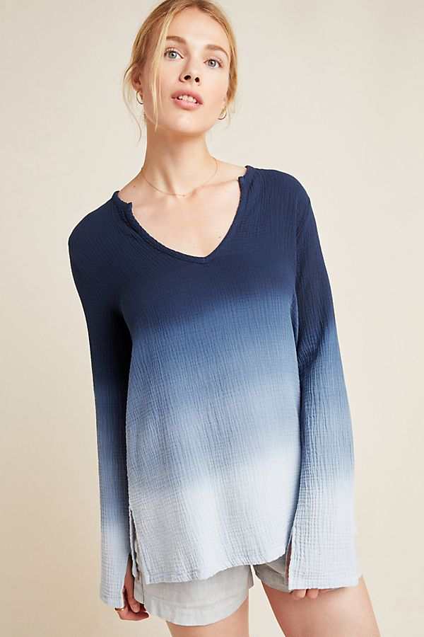 Slide View: 1: Sol Angeles Ombre Knit Tunic