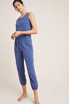 Slide View: 1: Sundry Henley Jumpsuit