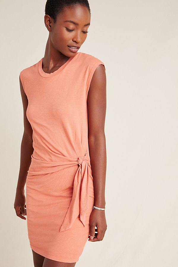 Slide View: 1: Sundry Tied T-Shirt Dress