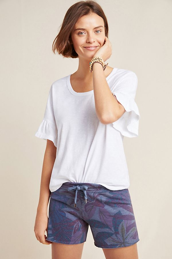 Slide View: 1: Sundry Ruffled Boxy Tee