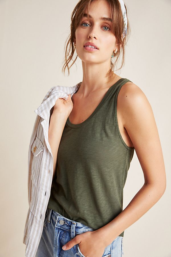 Slide View: 1: Stateside Gathered Sleeveless Top