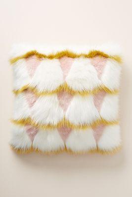 Coren Faux Fur Pillow by Anthropologie