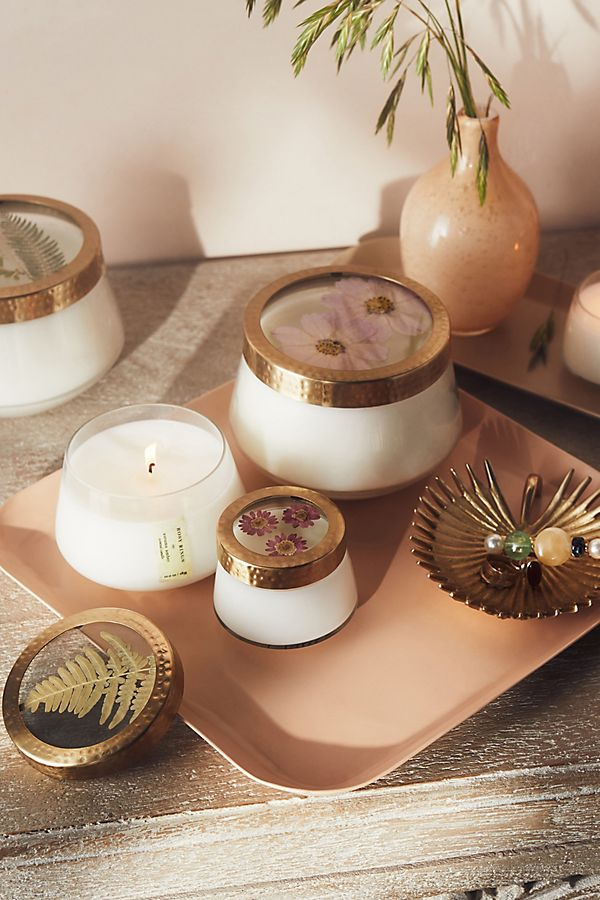 Slide View: 4: Floral Press Candle
