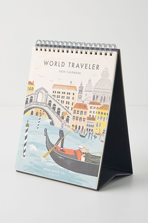 Rifle Paper Co. World Traveler 2020 Desk Calendar by Rifle Paper Co.