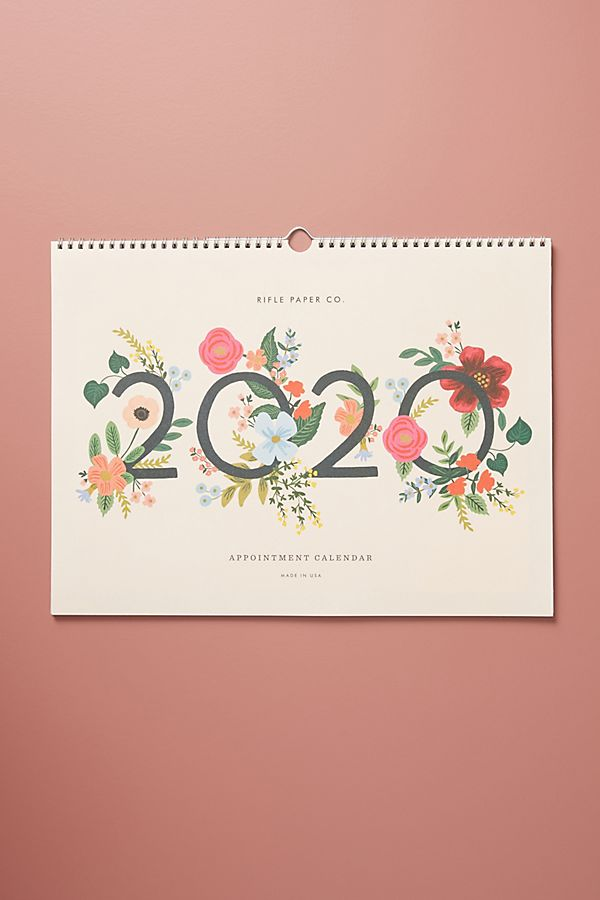Rifle Paper Co. Wild Rose 2020 Appointment Calendar by Rifle Paper Co.