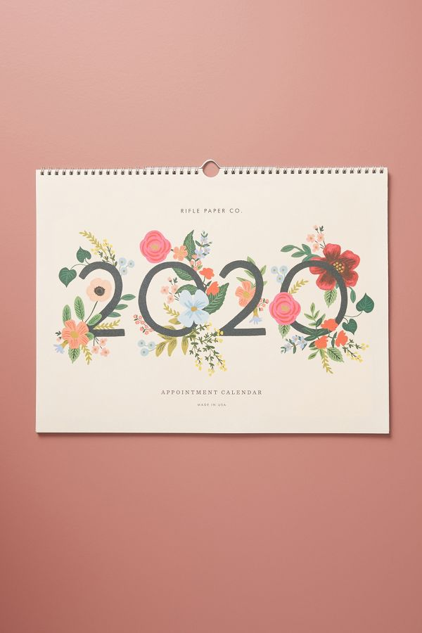 Slide View: 1: Rifle Paper Co. Wild Rose 2020 Appointment Calendar