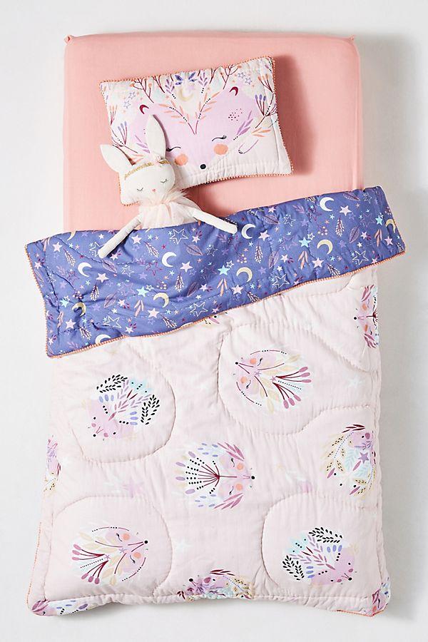 Slide View: 2: Paper & Cloth Hedgehog Toddler Quilt