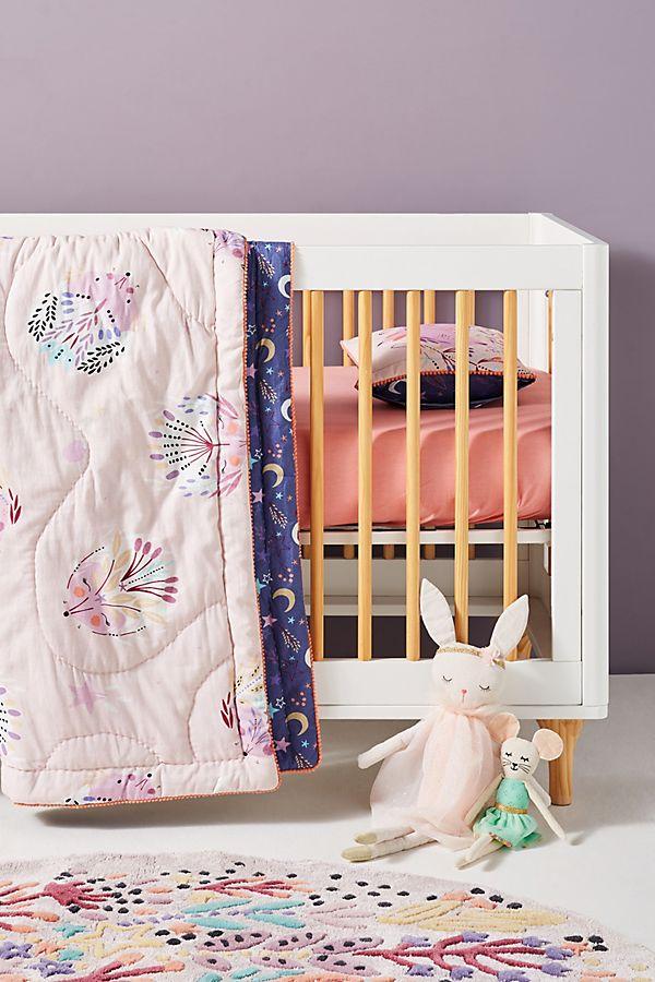 Slide View: 1: Paper & Cloth Hedgehog Toddler Quilt