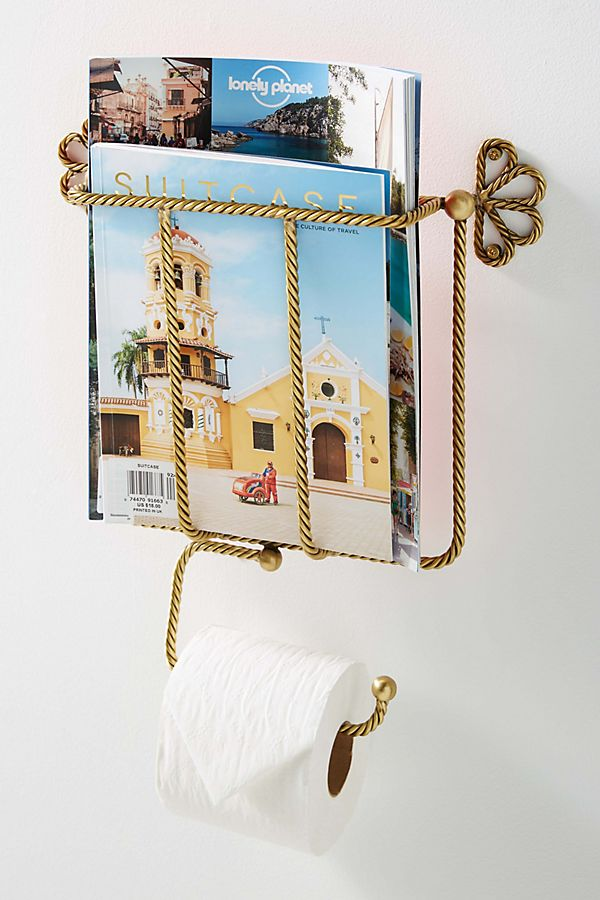 Slide View: 1: Francis Magazine & Toilet Paper Holder