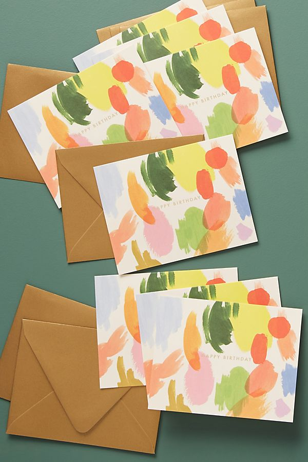 Slide View 1 Rifle Paper Co Palette Birthday Cards Set Of 8