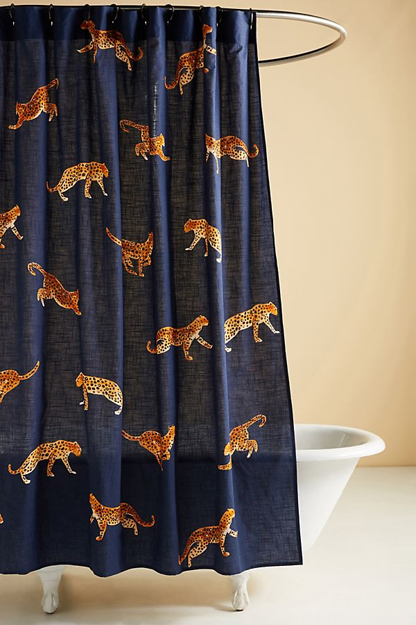 Slide View: 1: Leopard Shower Curtain