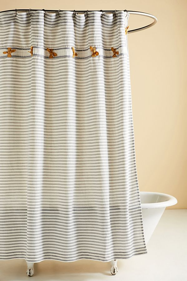 Slide View: 1: Embellished Carter Shower Curtain