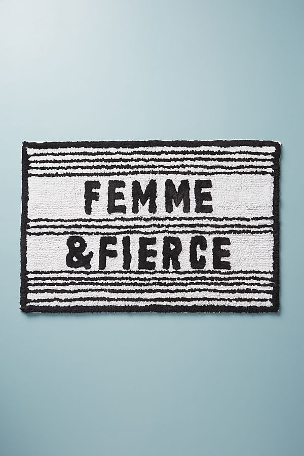 Slide View: 1: Femme & Fierce Bath Mat