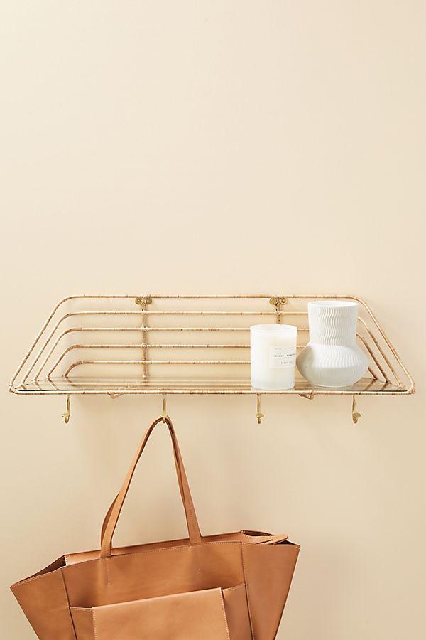 Slide View: 1: Bella Rattan-Wrapped Shelf