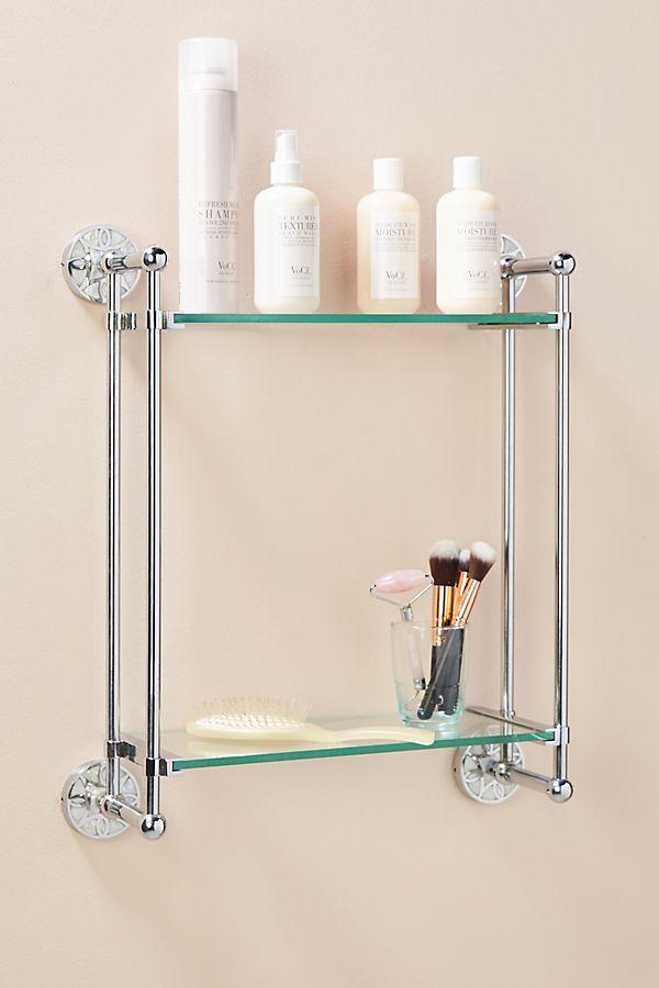 Slide View: 1: Launis Two-Tier Bathroom Shelf
