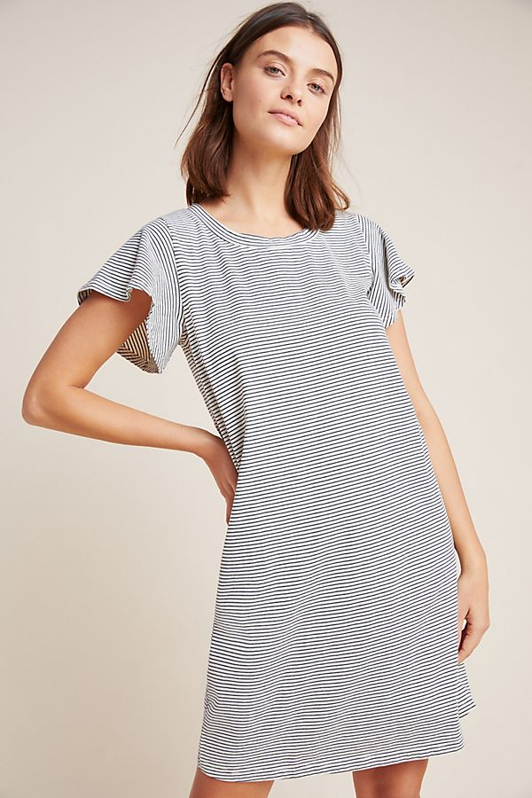 9ac2b06cb627 Slide View  1  Flutter-Sleeved T-Shirt Dress