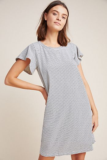 7074e5cafaece Flutter-Sleeved T-Shirt Dress