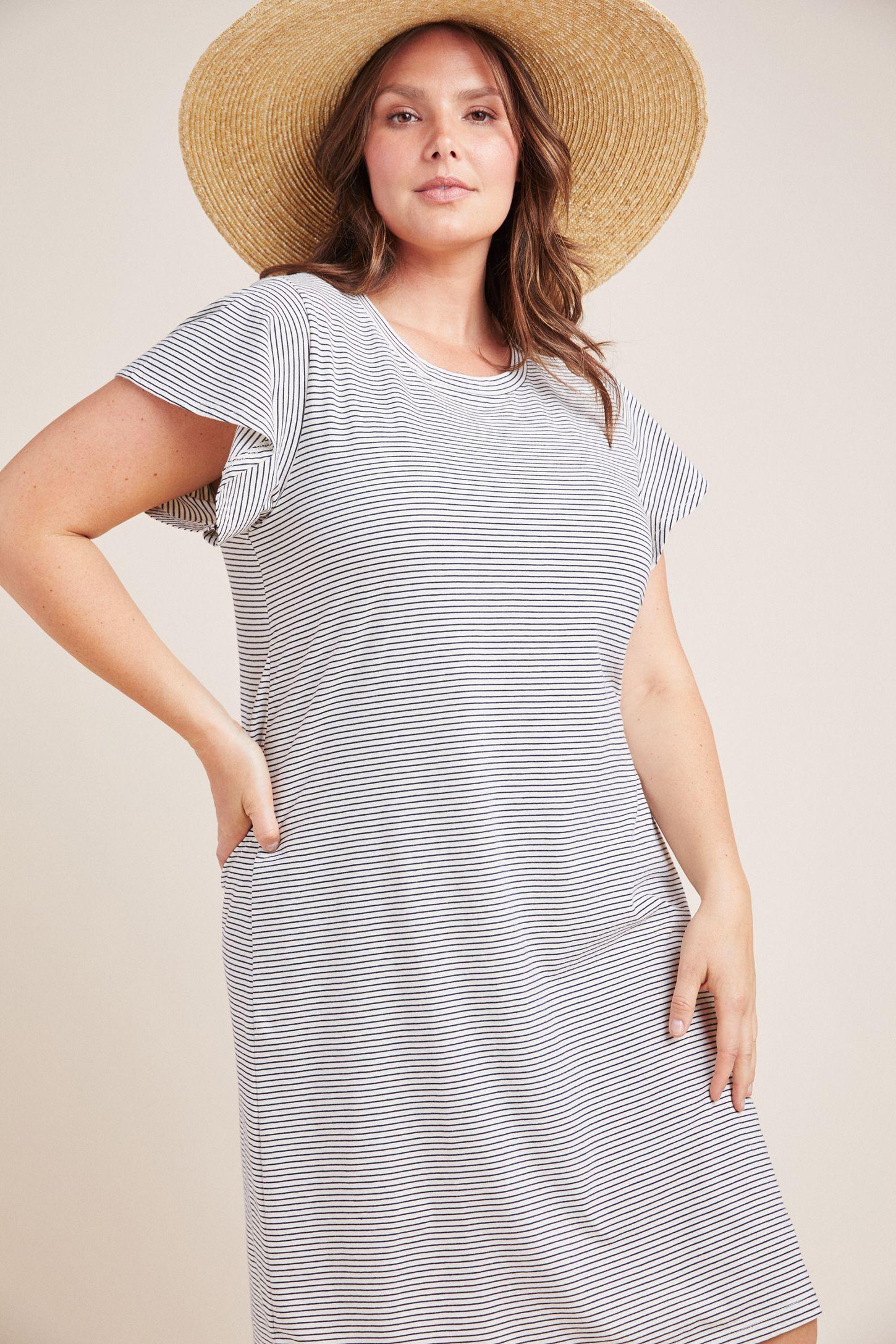 2d6ddcd8706 Slide View  7  Flutter-Sleeved T-Shirt Dress