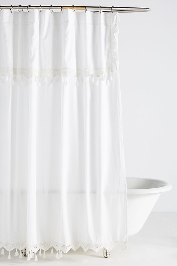 Slide View: 1: Tasseled Antioch Shower Curtain