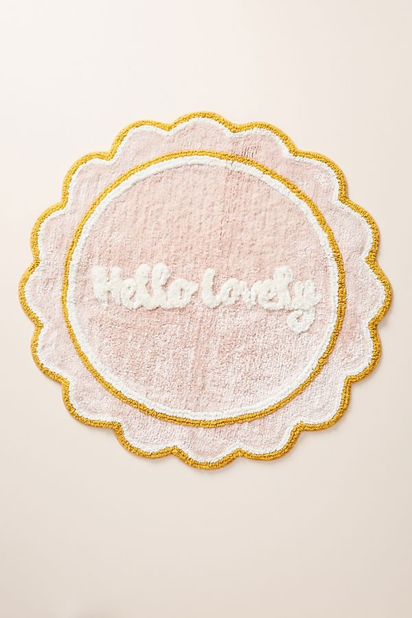 Pink Hello Lovely Bath Mat Top-Rated Accessories under $50