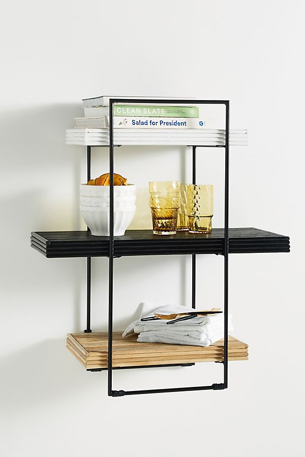 Slide View: 1: Nell Rattan Shelving Unit