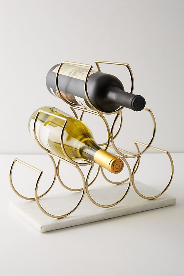 Slide View: 1: Brass Wine Rack