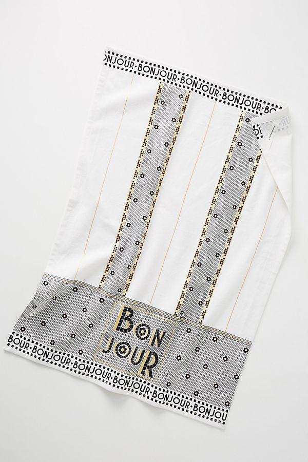 Slide View: 1: Bonjour Dish Towel