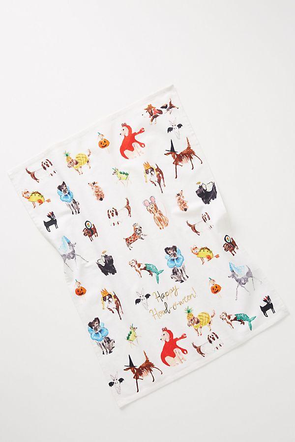 pauline-de-roussy-de-sales-howl-oween-dish-towel by pauline-de-roussy-de-sales