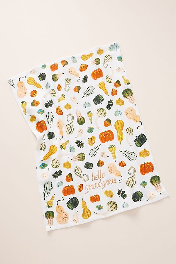 Slide View: 1: Quill & Fox Hello Gourd-Geous Dish Towel