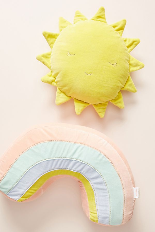 Slide View: 2: Meri Meri Sunshine Rainbow Velvet Cushion